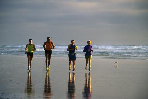 Springtur på stranden