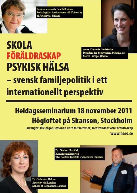 Utländska forskare varnar: svensk familjepolitik möter inte barns och familjers behov