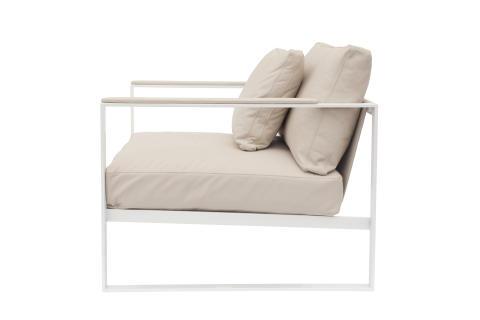 Monaco Lounge Chair White
