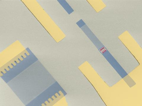 Mikroskopbild av den konstgjorda atomen
