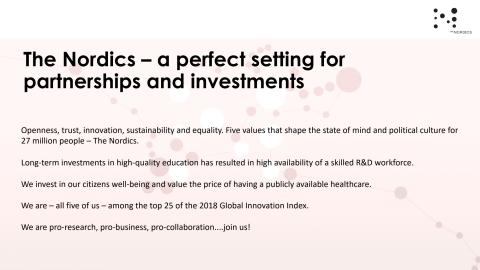 The Nordics – a perfect setting for partnerships and investments