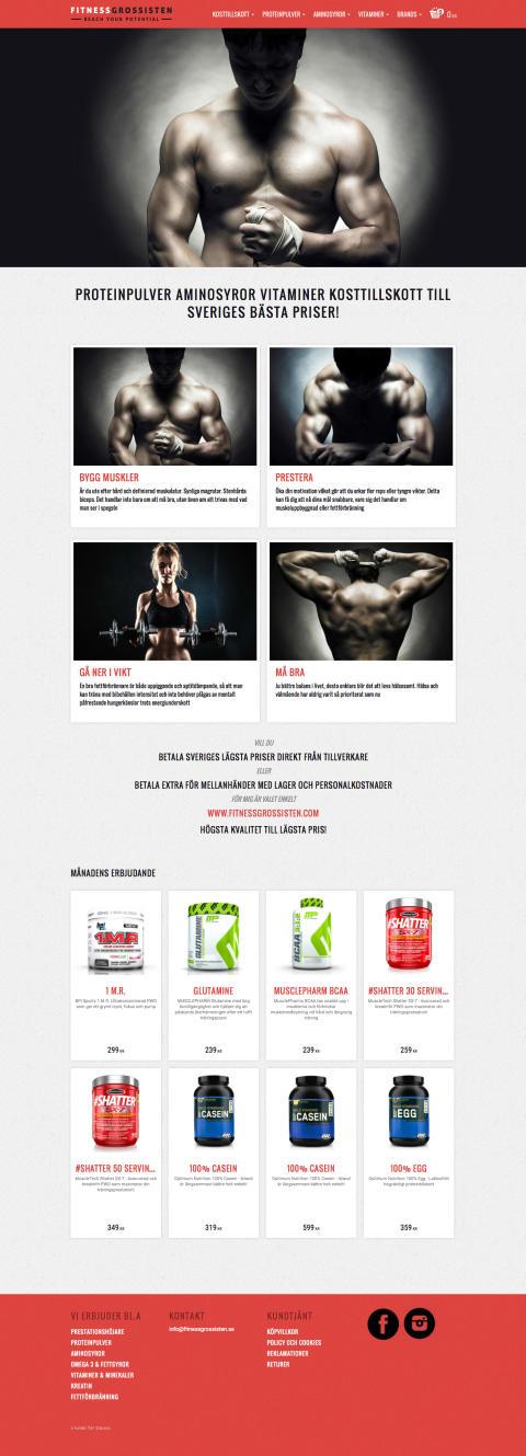 Fitnessgrossisten - Designpaket Layout