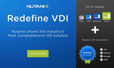 Nutanix lanserar branschens mest heltäckande VDI-lösning