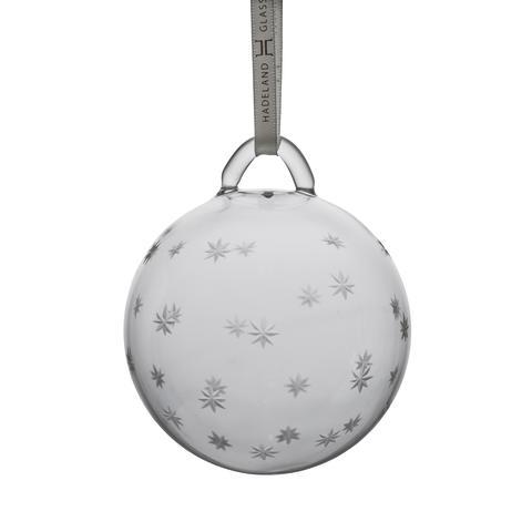 Julekule klar med slipemønster stjerner