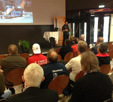Ta kontakt! - Micke Kågered tipsade verkstäder på Inspirationsdagen hur de ska hitta mekaniker.