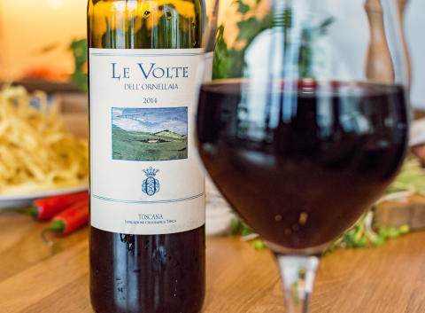 Le Volte dell´Ornellaia - fantastiskt finvin till lammkorv
