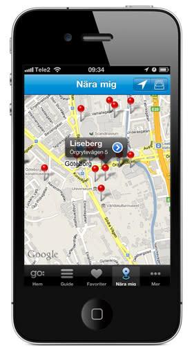 Göteborgs stadsguide finns nu i din Iphone