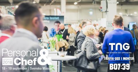 TNG medverkar och föreläser om jobbshopping på Personal & Chef Göteborg 2018