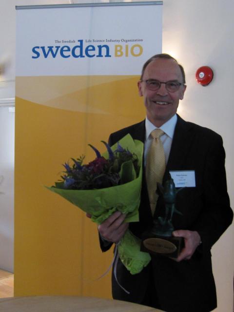 Peter Edman med SwedenBIO Award