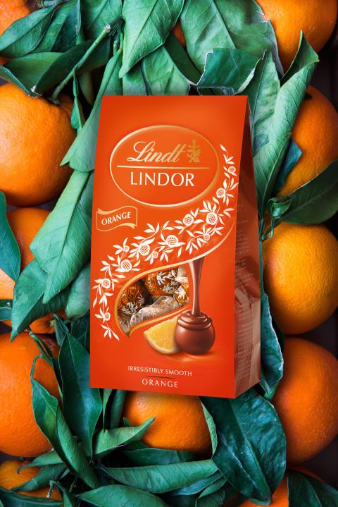 Lindor Orange 137g påse Mood