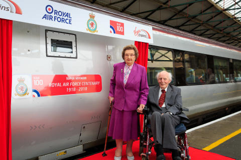 WWII veterans launch Virgin Trains' RAF train in North Wales