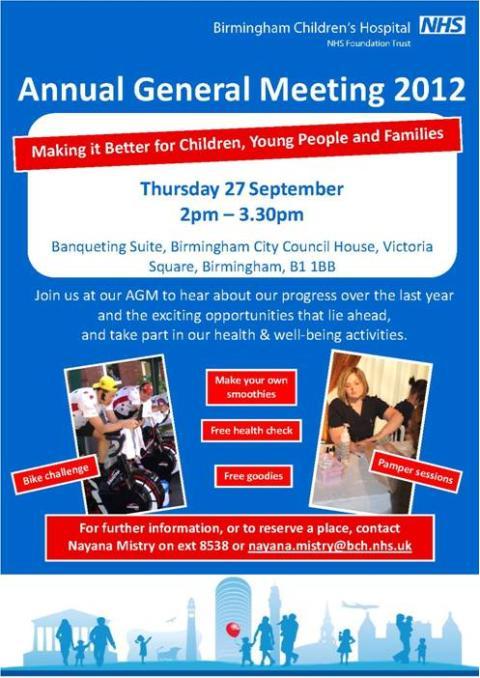 Birmingham Children's Hospital's Annual General Meeting