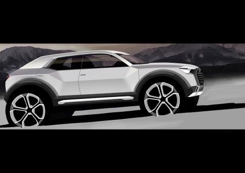 Audi utvecklar ny Q-modell. Audi Q1.
