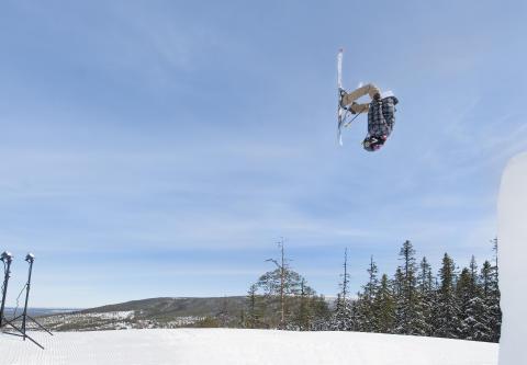 Action i snowparken