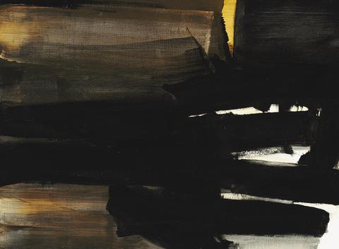 """Pierre Soulages: """"Peinture"""", 1963."""