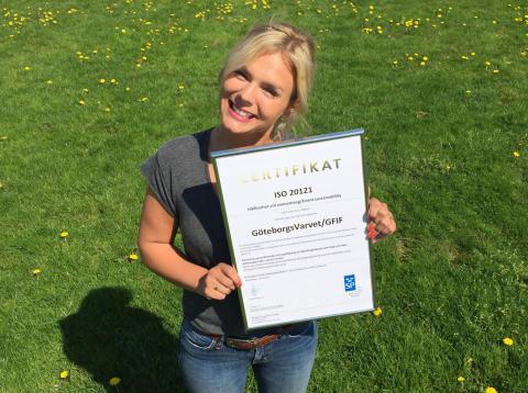 GöteborgsVarvet certifierade enligt hållbarhetsstandarden ISO 20121