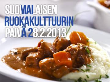 Suomalaisen ruokakulttuurin päivä torstaina 28. helmikuuta