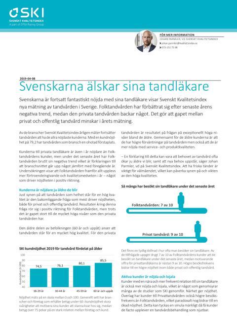 Svenskarna älskar sina tandläkare