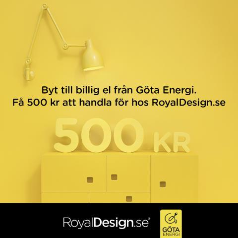 Göta Energi och RoyalDesign.se i samarbete för nöjdare kunder