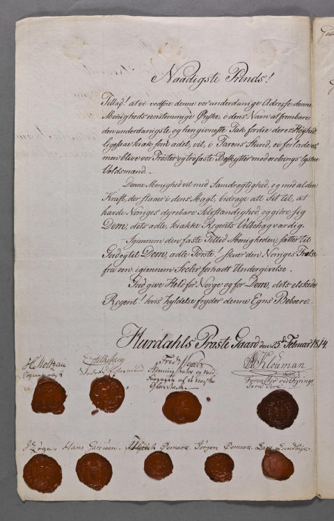 Adresser og fullmakter til riksforsamlingen på Eidsvoll 1814