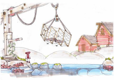 8. Konceptskiss för 'Unravel' med titeln 'The Sea' av Dick Adolfsson. © 2014 Coldwood Interactive