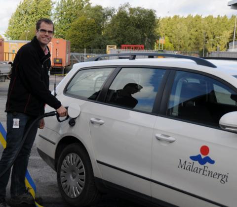 EcoPar bidrar till att Mälarenergi når miljömålen för sina fordon