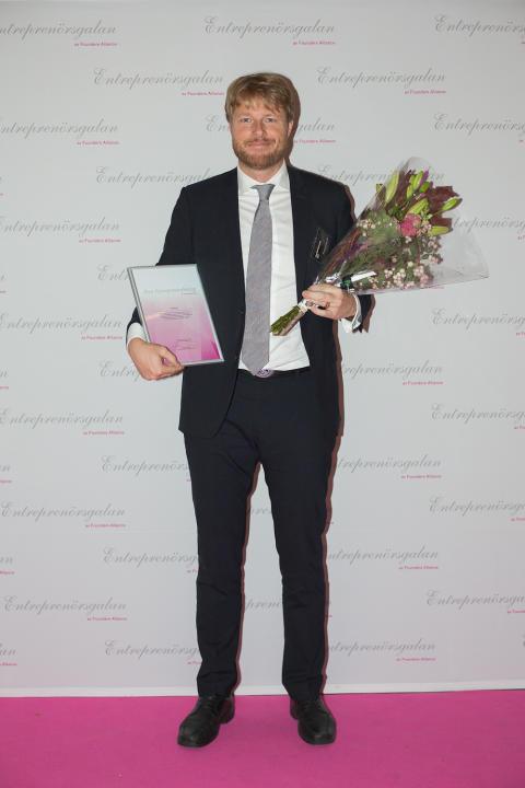 Årets Grundare Sverige 2014 korad – Lars Olof Elfversson, Netlight