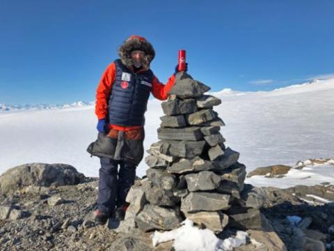 Krone-isen fremme på Sydpolen
