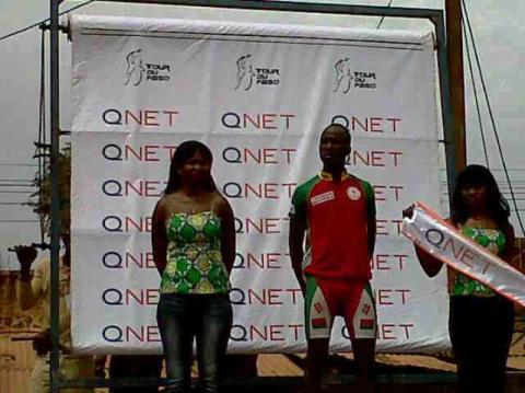 Ilbodo Harouna from Team Burkina wins the QNET award on Day 9 of the race