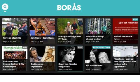 Responsiv kalender ska stärka evenemangsstaden Borås