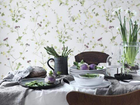 Det mest populära tapetmönstret: klassiska och moderna blommor