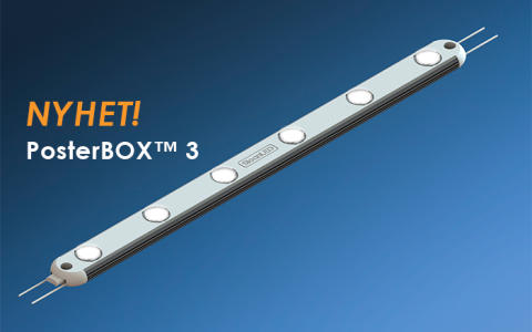 PosterBOX™ 3 – Unik LED-modul för stora, tunna och sidobelysta ljuslådor