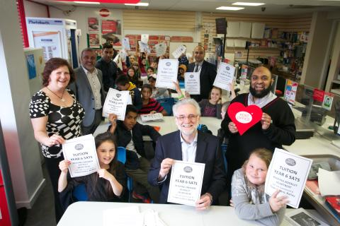 Batley Post Office Launches Homework Club With Mike Wood MP