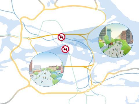 Karta 3 - Projekt Ö:a länken & T-bana Blå