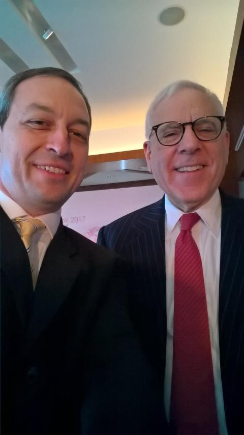 HBM's Mark Laudi meets Carlyle Group's David M. Rubenstein