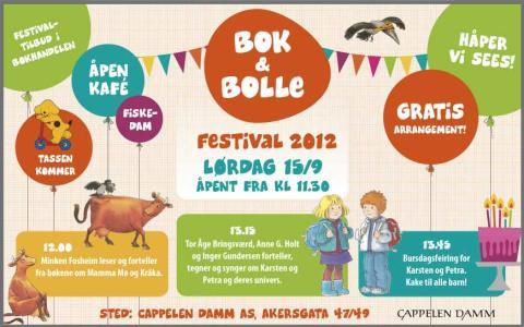 Velkommen til Bok & bolle-festivalen 2012!