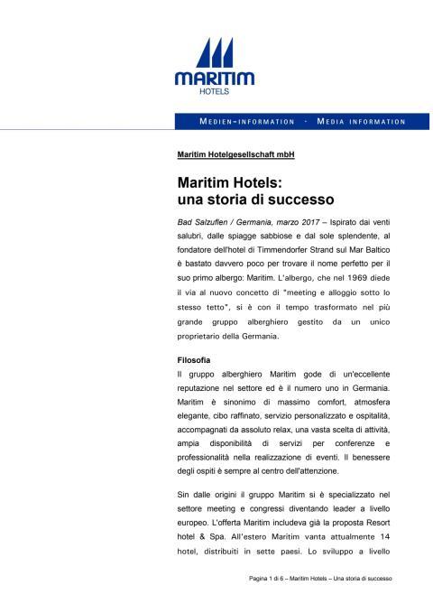 Maritim Hotels -una storia di successo