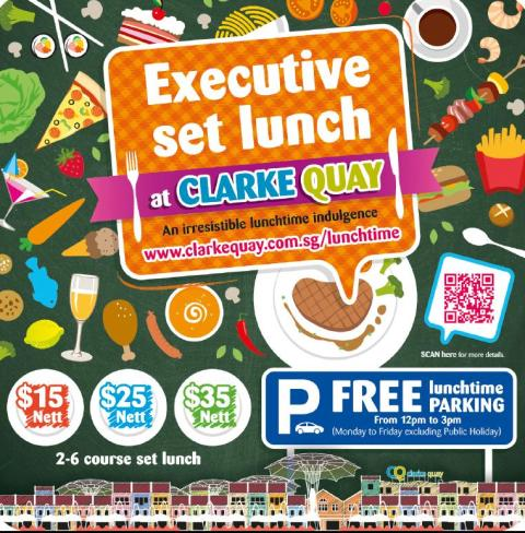 SINGAPORE'S BEST LUNCH DEALS ARE BACK AT CLARKE QUAY WITH VALUE FOR MONEY SET LUNCH FOR ALL BUDGETS!