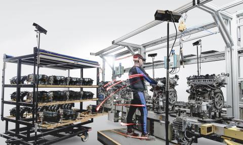 A Ford ugyanazzal a mozgáskövető technológiával tökéletesíti az autógyártás folyamatát, amivel az élsportolók javítják teljesítményüket