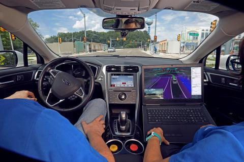 Selvkjørende bil test omorganisering