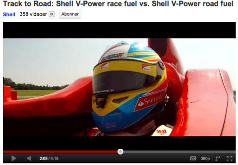 Fernando Alonso i Shell V-Power duel