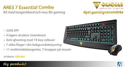 Gaming-kit från taiwanesiska gamingvarumärket GAMDIAS