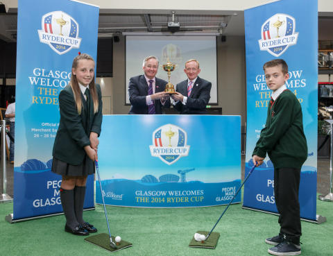 Iconic Ryder Cup Trophy visits Glasgow