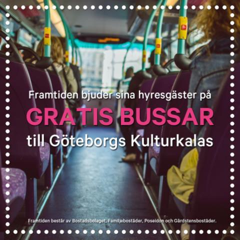 Gratis bussar till Kulturkalaset för Framtidens hyresgäster