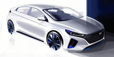 Hyundai viser mer av el-bilen IONIQ