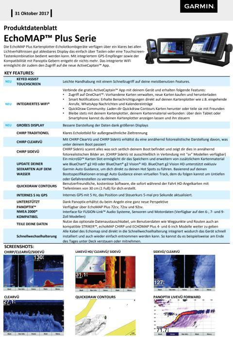 Datenblatt EchoMap Plus