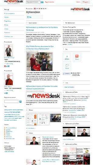 Mynewsdesks social media newsroom