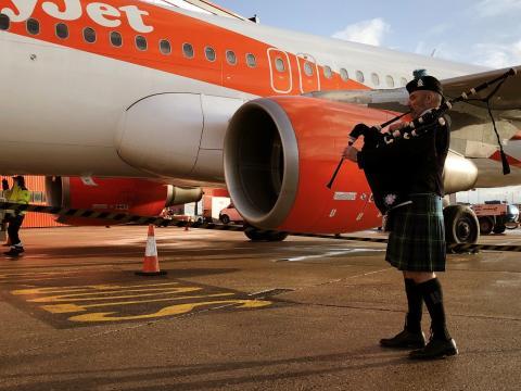 London Luton Airport lays on Burns Night surprise