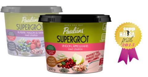Paulúns Supergröt utsedd till Årets Toppmat 2015