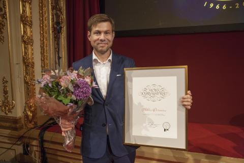 Niklas Orrenius, vinnare av Årets Röst 2016